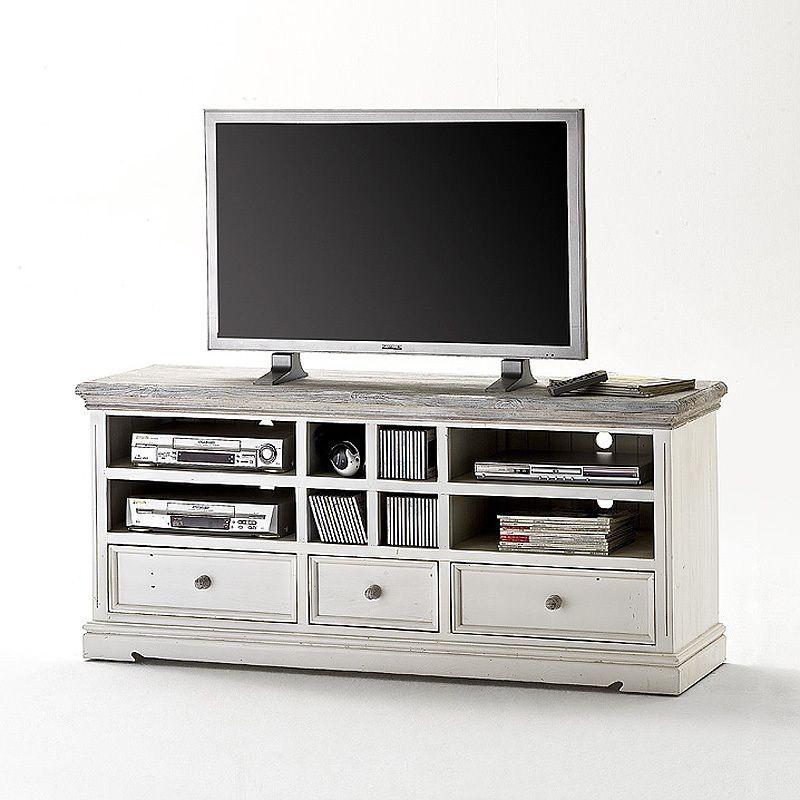 TV Lowboard »OPUS« Recycle-Kiefer weiß - sandweiß Jetzt bestellen