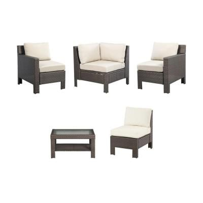 Hampton Bay Beverly 5Piece Sectional Patio Seating Set