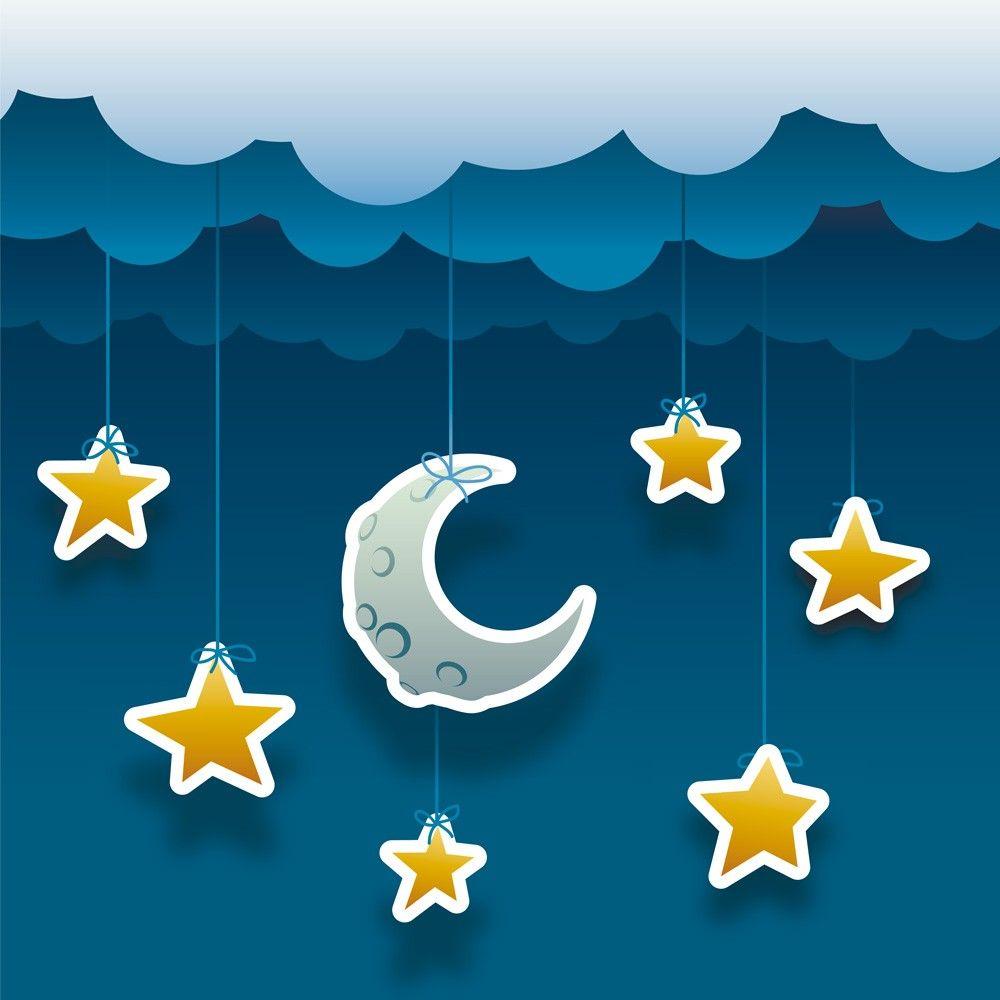 El cuento para ni os de la luna y las estrellas moon - Dibujos de lunas infantiles ...