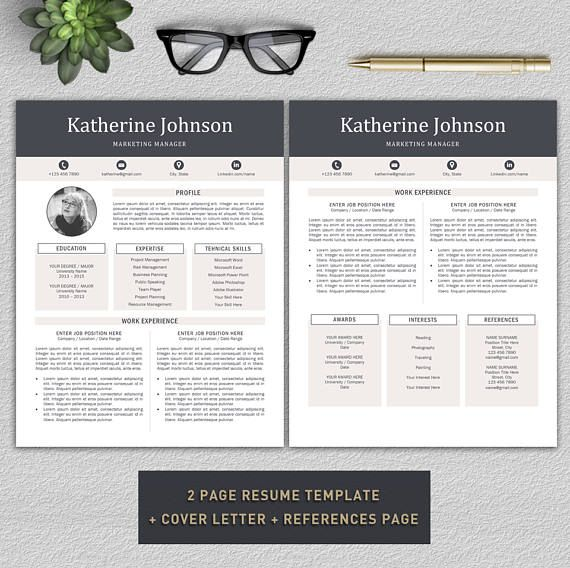Resume Template Professional Resume Template Cv Template  Resume