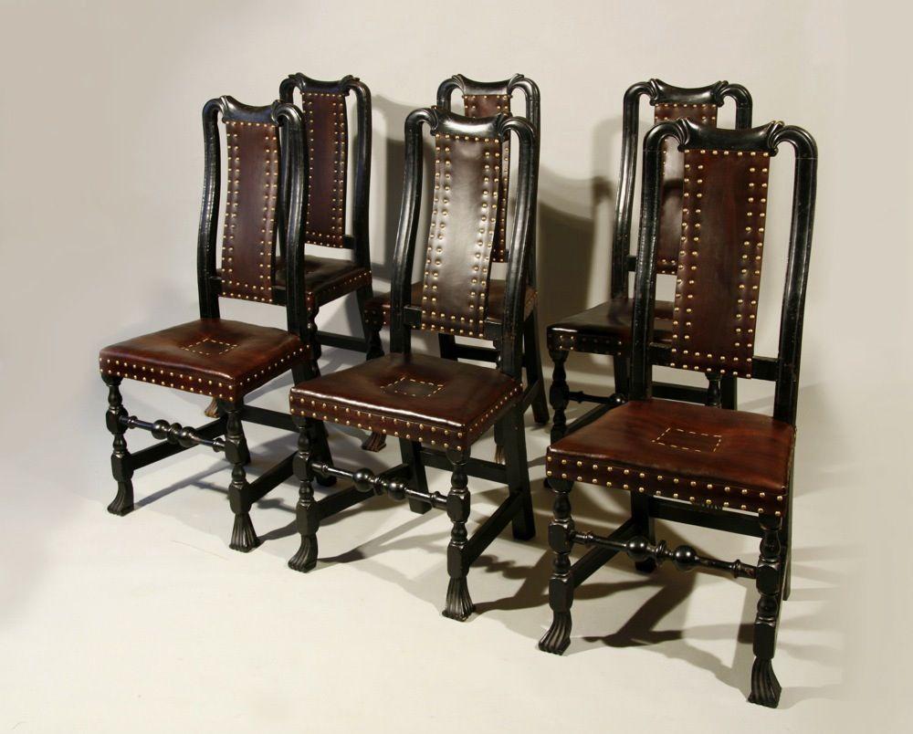 Antique Queen Anne U0027leatheru0027 Chairs