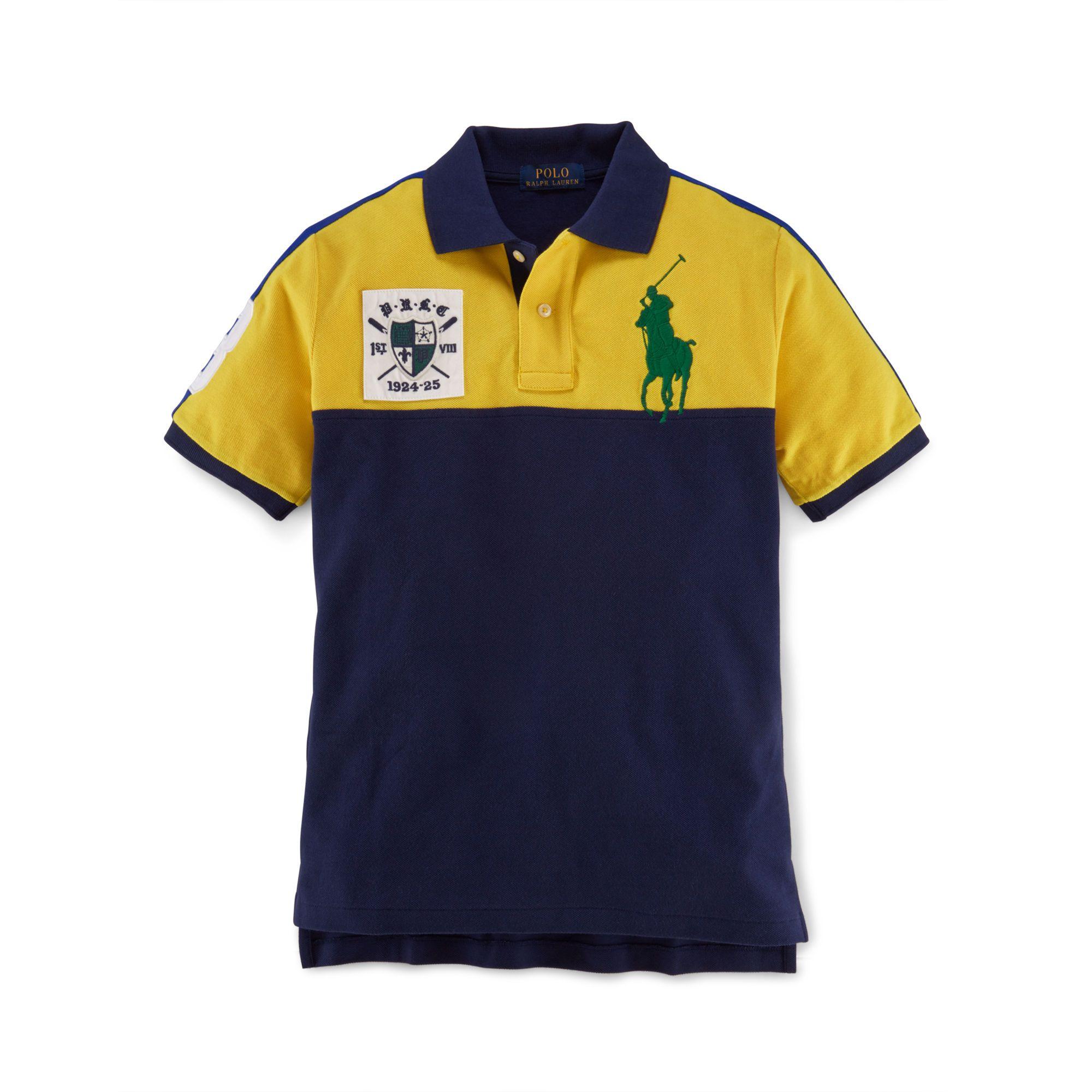 Big Pony Color-Blocked Polo - Polo Shirts Boys' 8–20 - RalphLauren