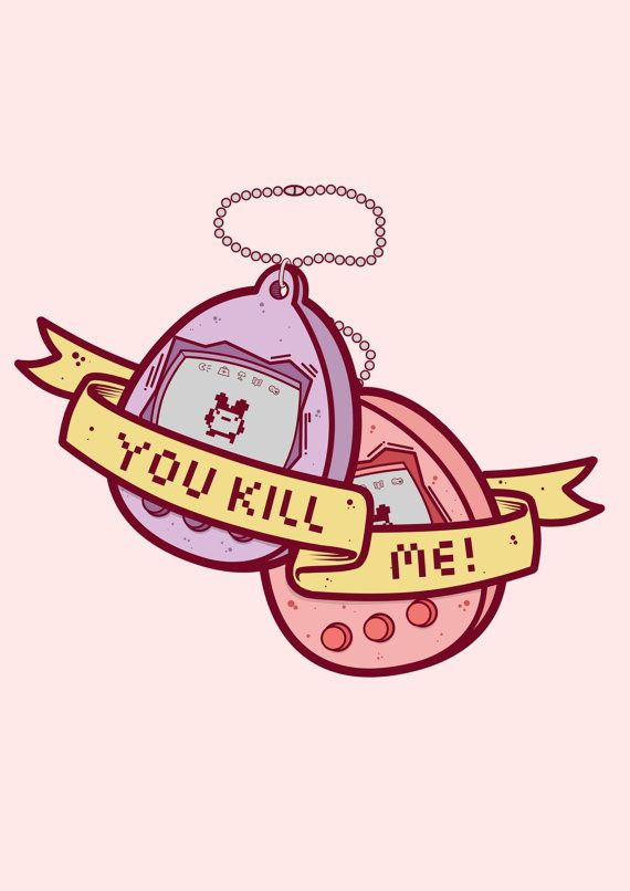 You kill me tamagotchi print by becceve on etsy illustration you kill me tamagotchi print by becceve on etsy thecheapjerseys Image collections