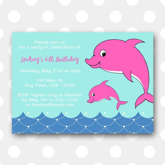 Printable dolphin birthday party invitation dolphin birthday party printable dolphin birthday party invitation dolphin birthday party invite dolphin party invite pink dolphins in blue aqua fuchsia filmwisefo Gallery