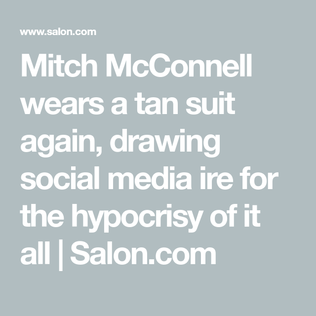 Mitch McConnell wears a tan suit again, drawing social ...