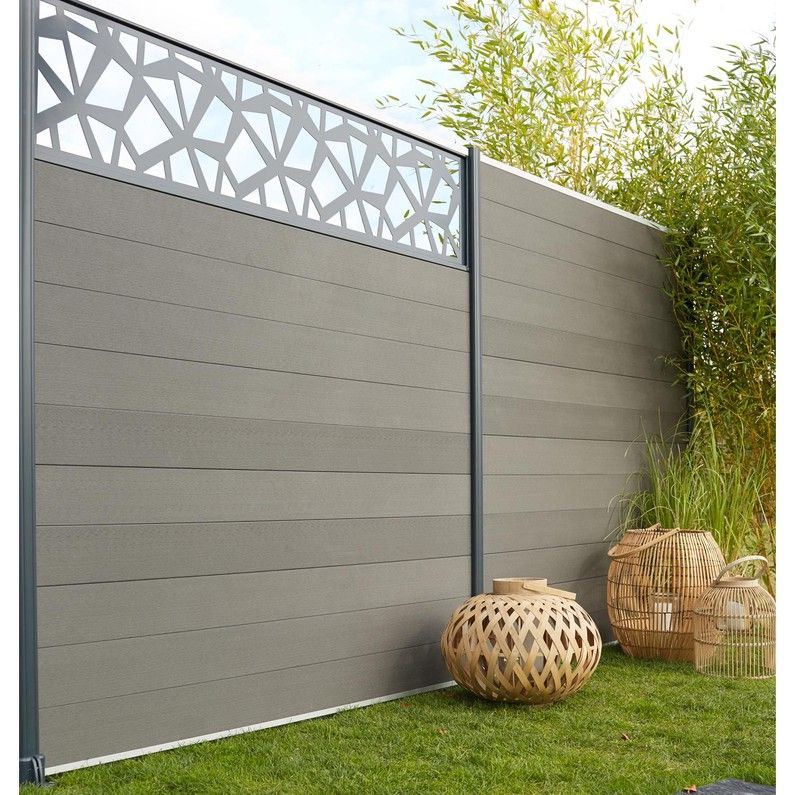 Lame Composite A Emboiter Kyoto Gris L 176 X H 14 8 Cm X Ep 2 1 Mm Amenagement Jardin Cloture Cloture Jardin Pvc Decoration Exterieur