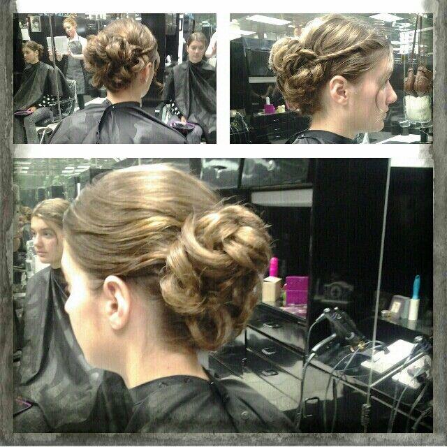 Hair by: Me #kamihair #prom updo