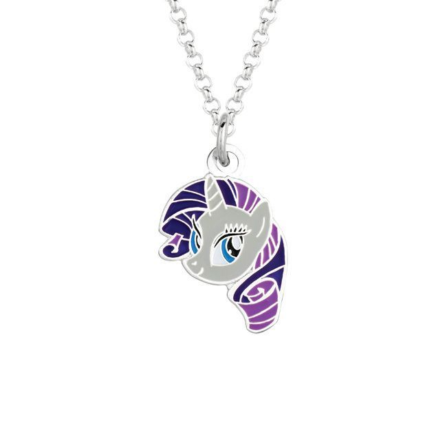 Fine silvertone rarity face my little pony pendant necklace fine silvertone rarity face my little pony pendant necklace girls size 18 inch mozeypictures Images