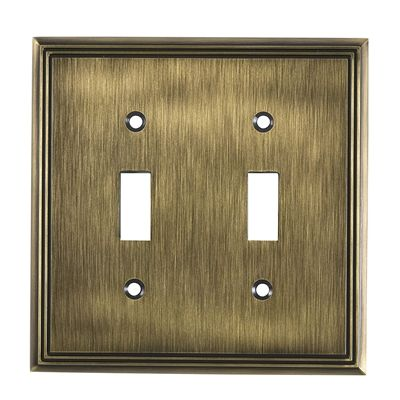 Richelieu Wall Plate Bp853 Contemporary Toggle Switchplate
