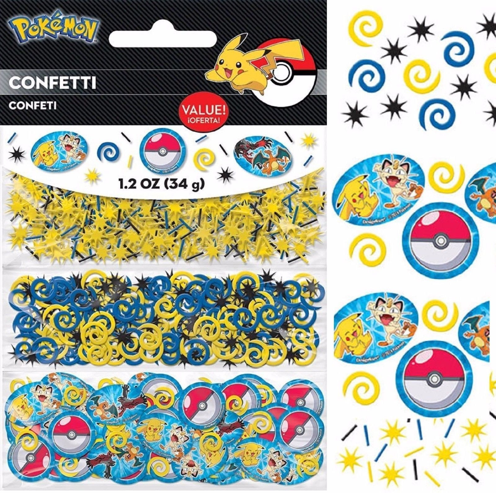 Celebrations & Occasions Pikachu Pokemon Go Confetti Pikachu Birthday Decoration Party Supply