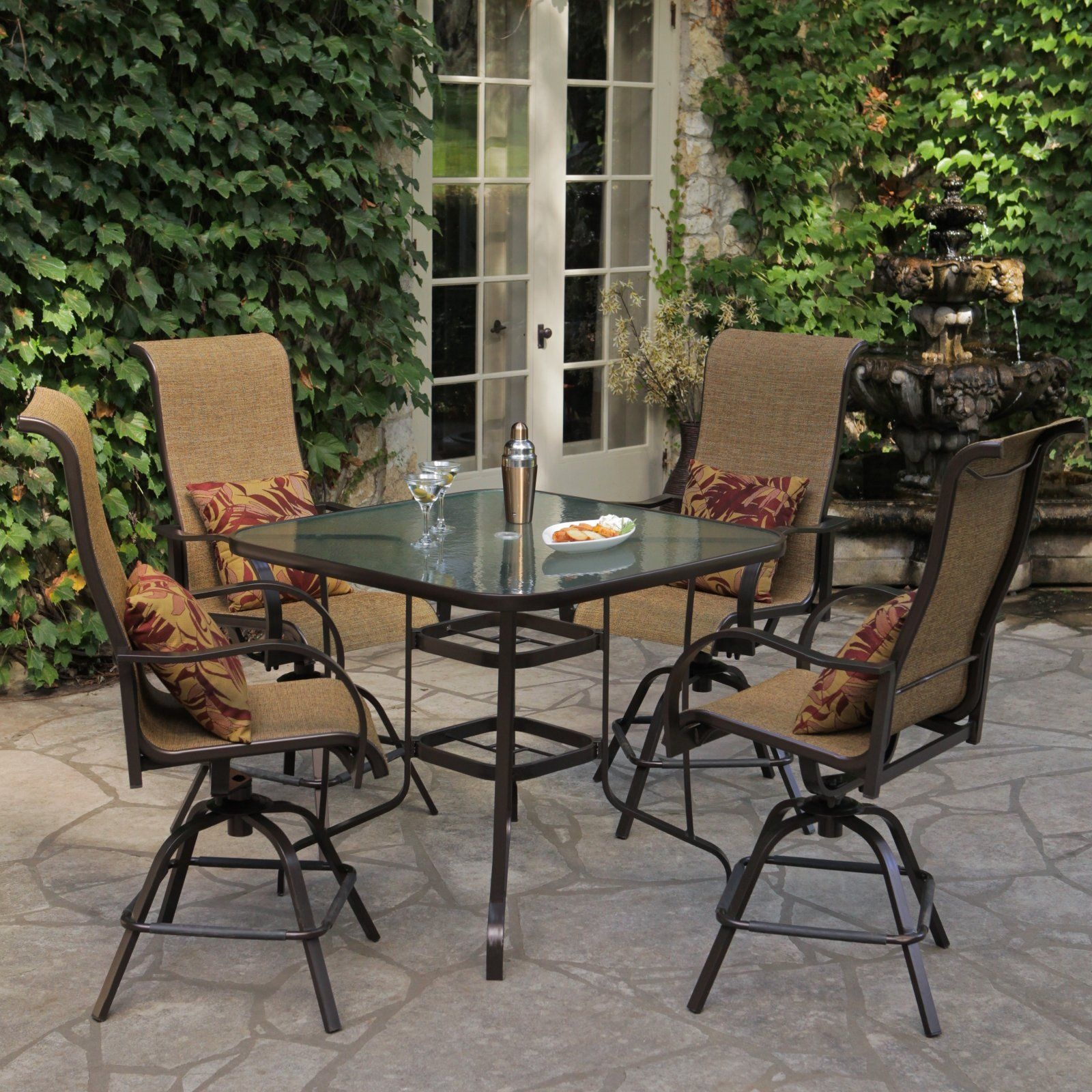 Rioja Balcony Height Outdoor Dining Set Seats 4