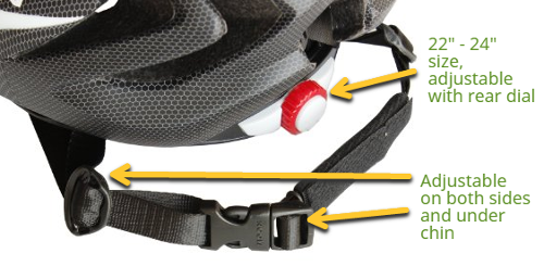 Moon Cycle Bike Helmet With LED Light size | Best bike ...