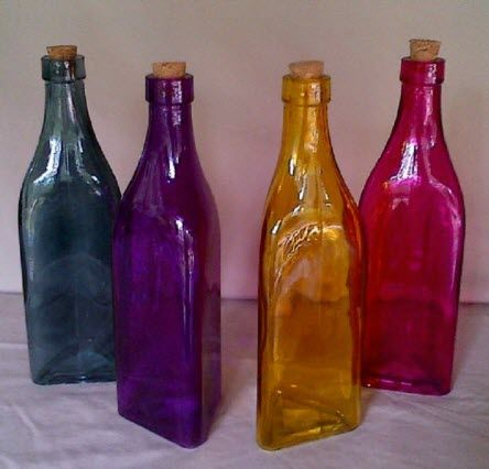 Decorative Bottles With Corks Glamorous Coloredglassbottles  Colored Glass Bottles With Corks Pictured Design Ideas