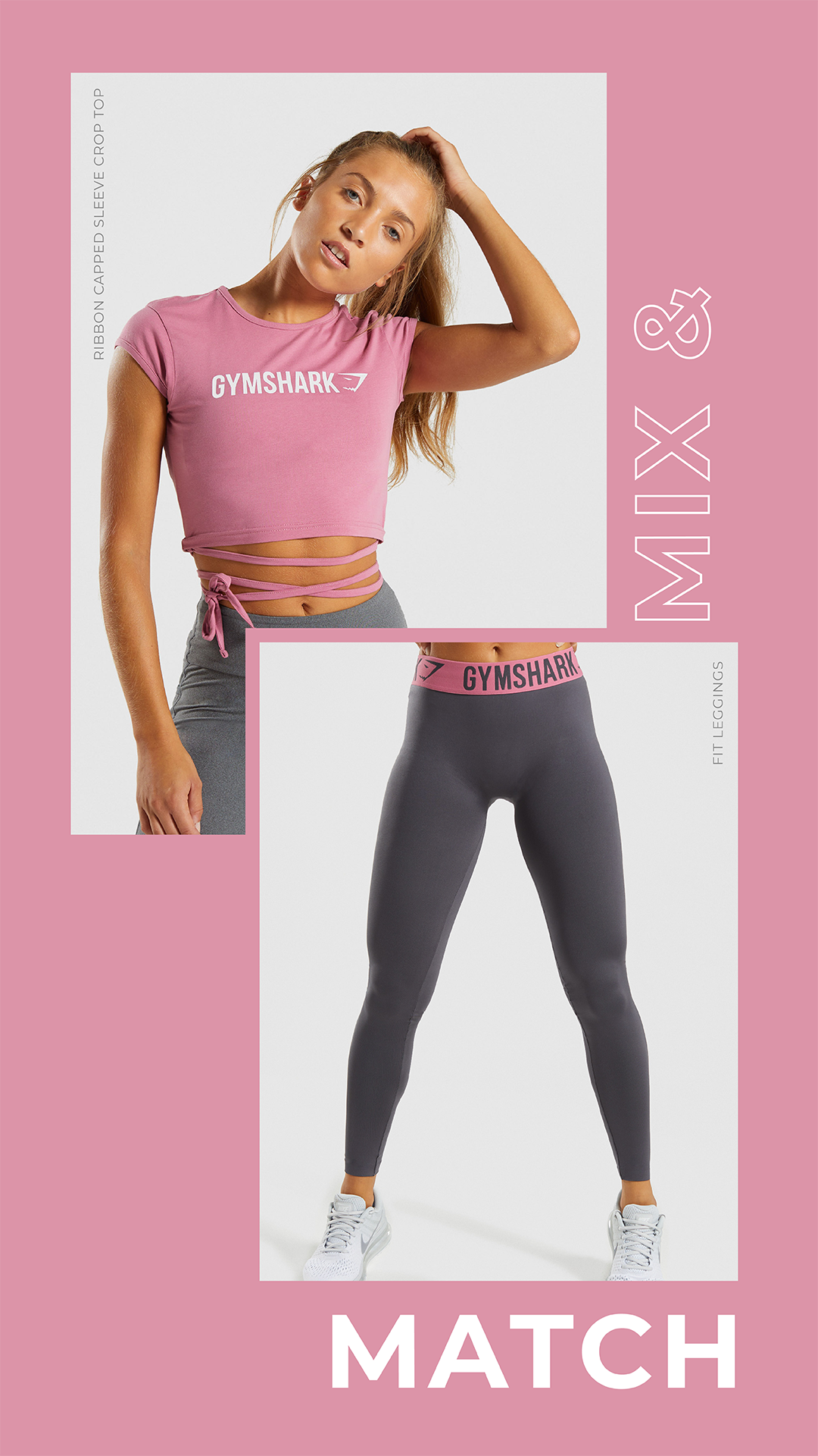 69e2d60624251 Mix   Match the Fit Leggings and Ribbon Capped Sleeve Crop Top.  Gymshark   Gym  Seamless  Exercise  Strength  Strong  Power  Fitness   OutfitInspiration ...