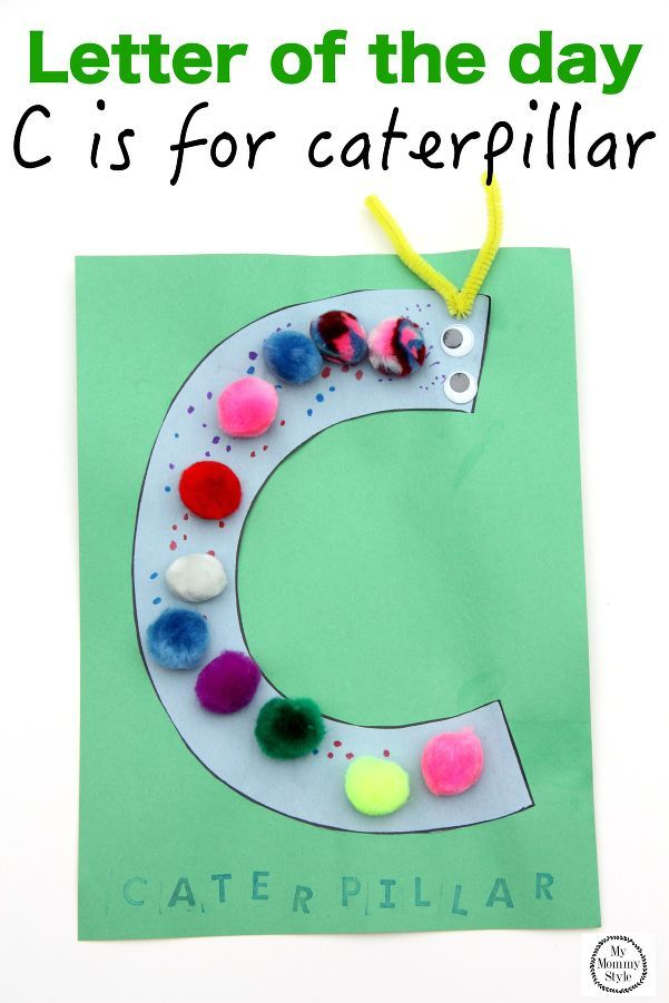 A fun letter of the day craft for the letter C.