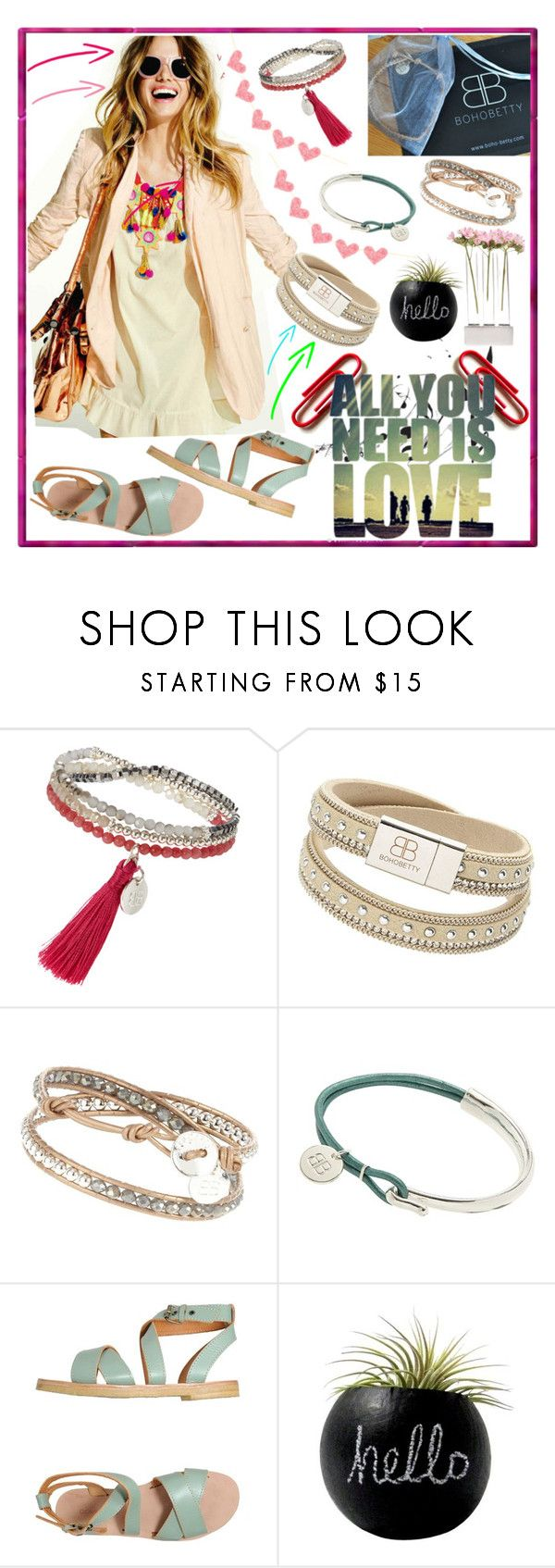 """The Best Of Chic @bohobetty"" by westcoastcharmed ❤ liked on Polyvore featuring beauty, Music Notes, L'Autre Chose and Chive"