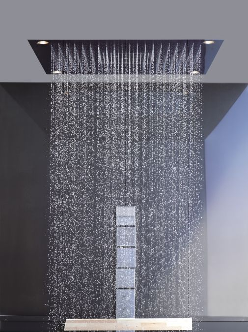 Recessed Ceiling Shower Head Square With Built In