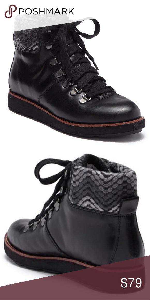 Bionica Hiko Black Leather Lace Up
