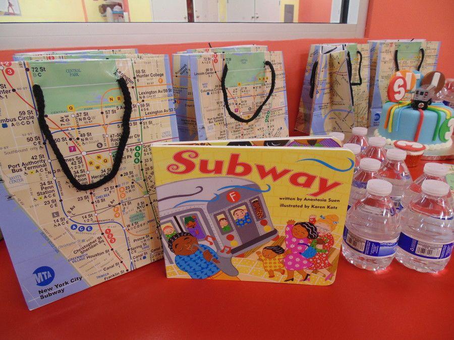 New York City Subway Birthday Party Theme trainsubway