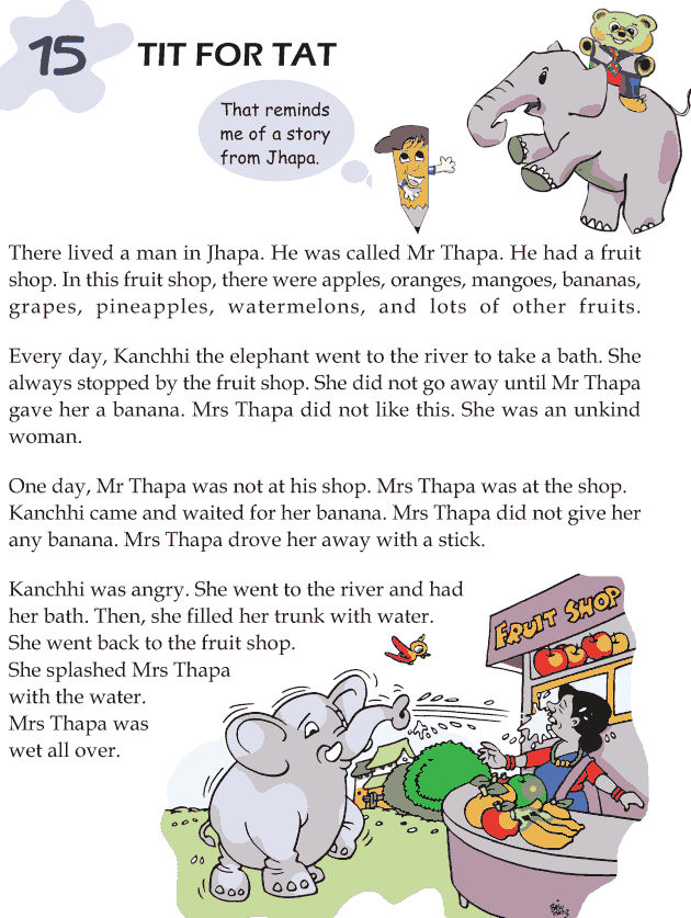Worksheets Story For Grade 3 grade 3 reading lesson short stories the spotted cow 1 15 tit for tat