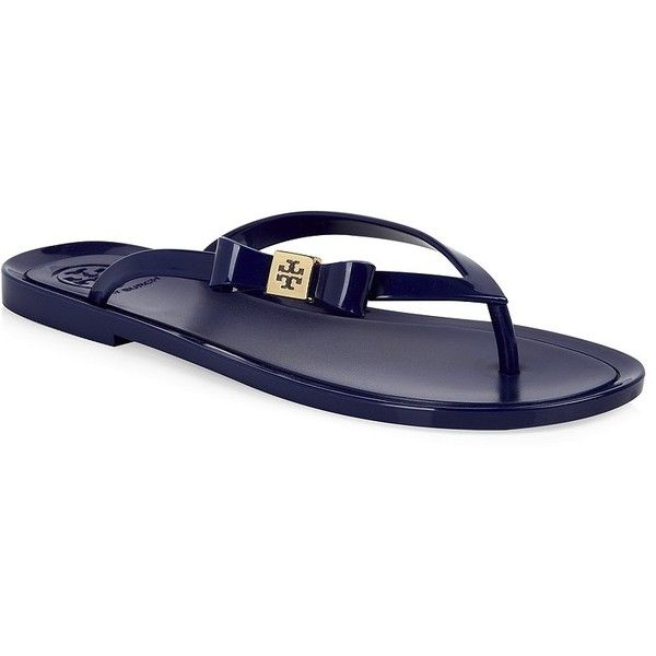 870819a54eb3 Tory Burch Jelly Flip Flops ( 100) ❤ liked on Polyvore featuring shoes