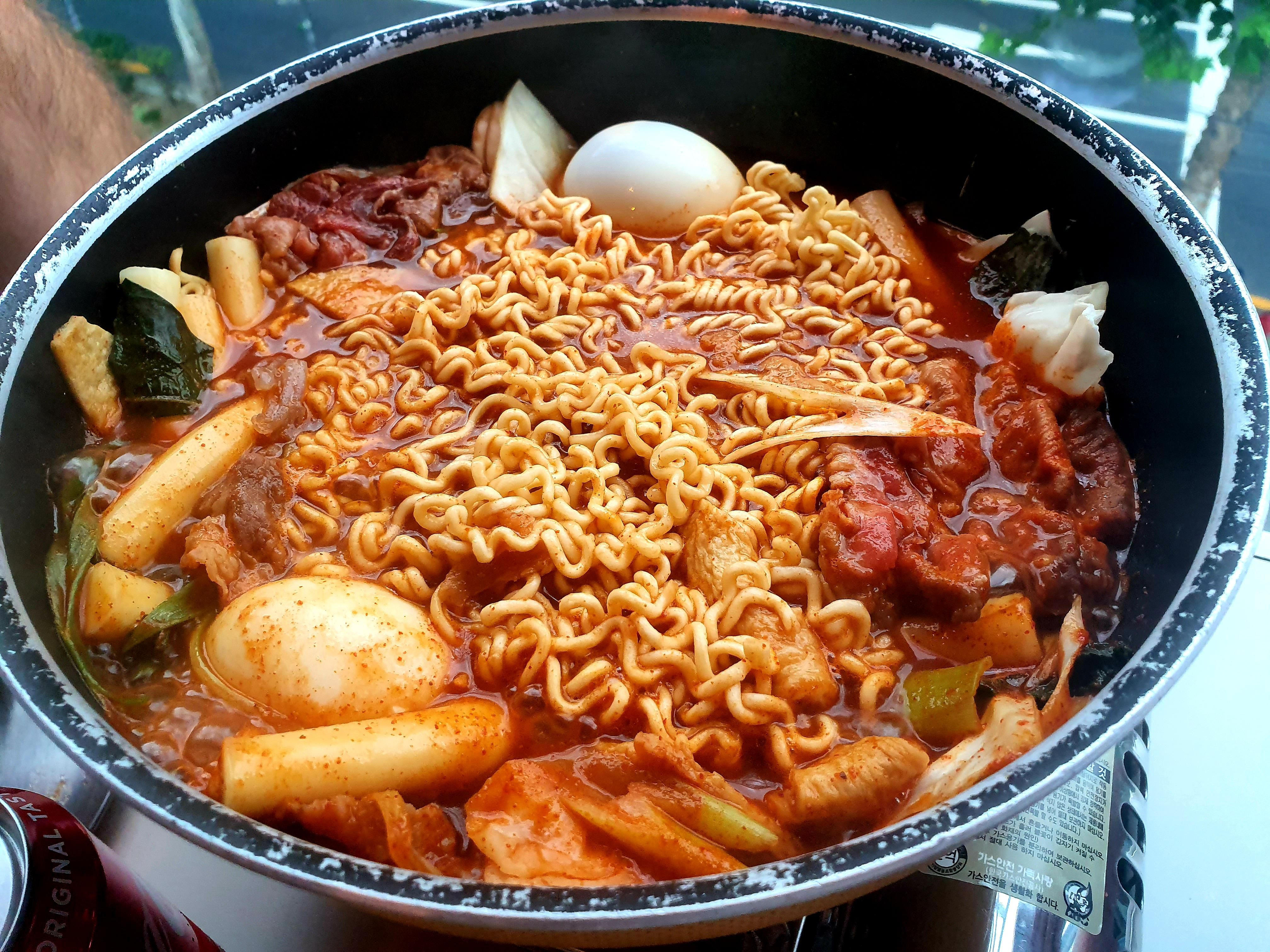 Insanely Spicy And Fresh Traditional Korean Dish Tteokbokki With