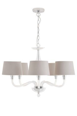 Knightsbridge 5 Light Glass Chandelier With Shades | Lighting ...