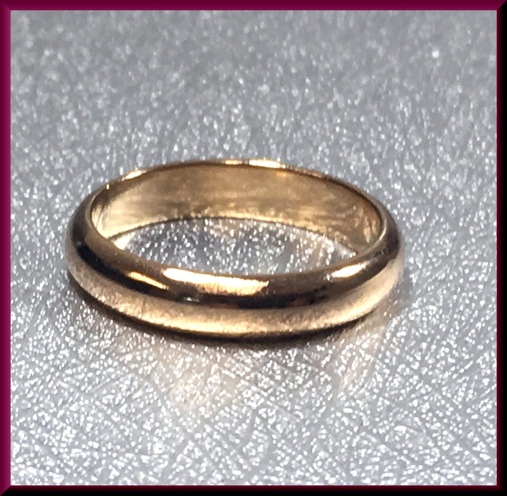Vintage Cartier Wedding Band 18K Yellow Classic Gold Band