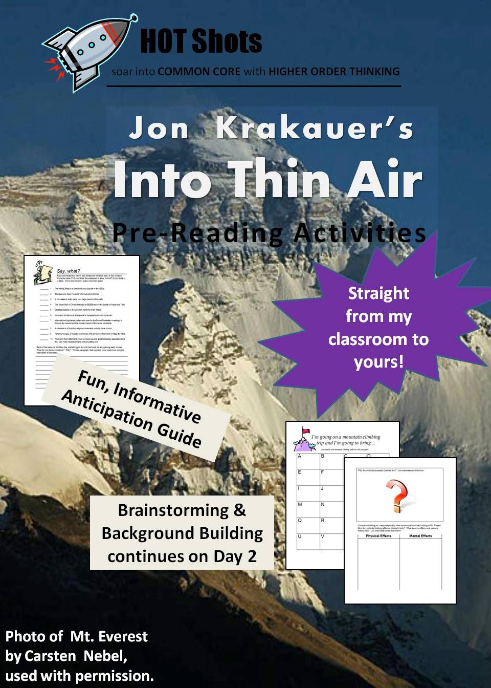 best images about teaching into thin air 17 best images about teaching into thin air activities comprehension and l wren scott