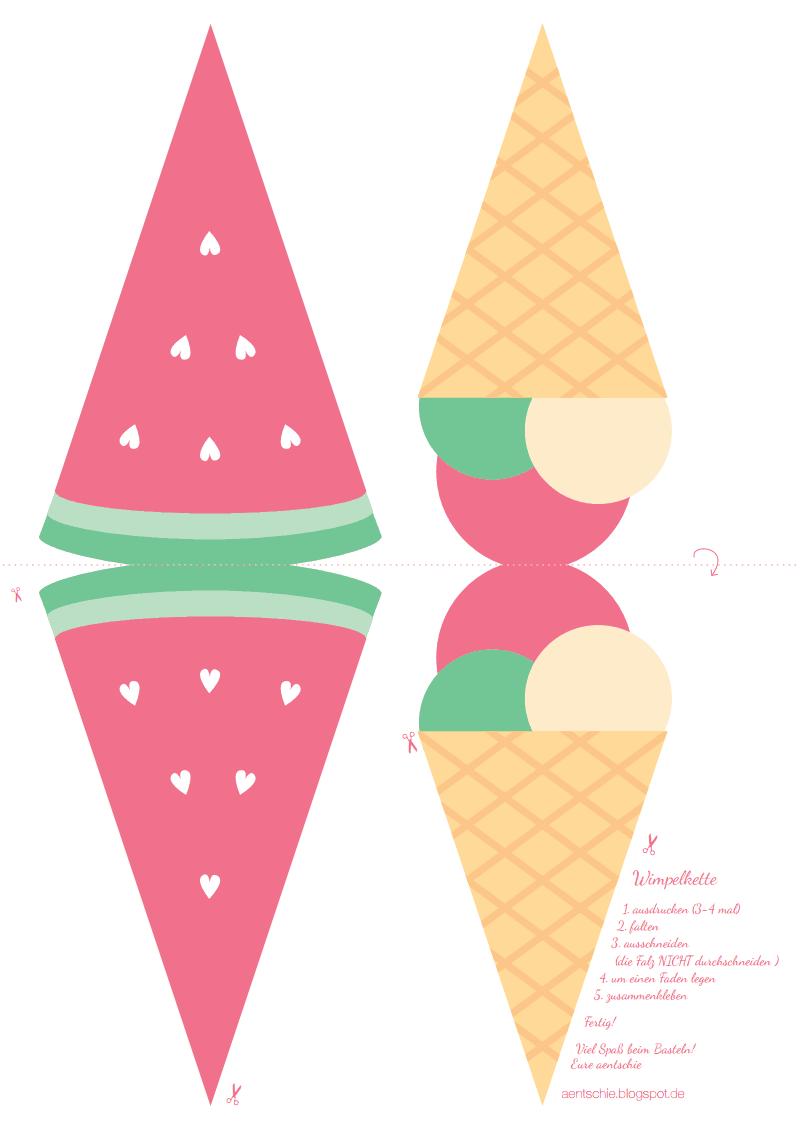 sommerwimpelkette  basteln mit kindern sommer basteln