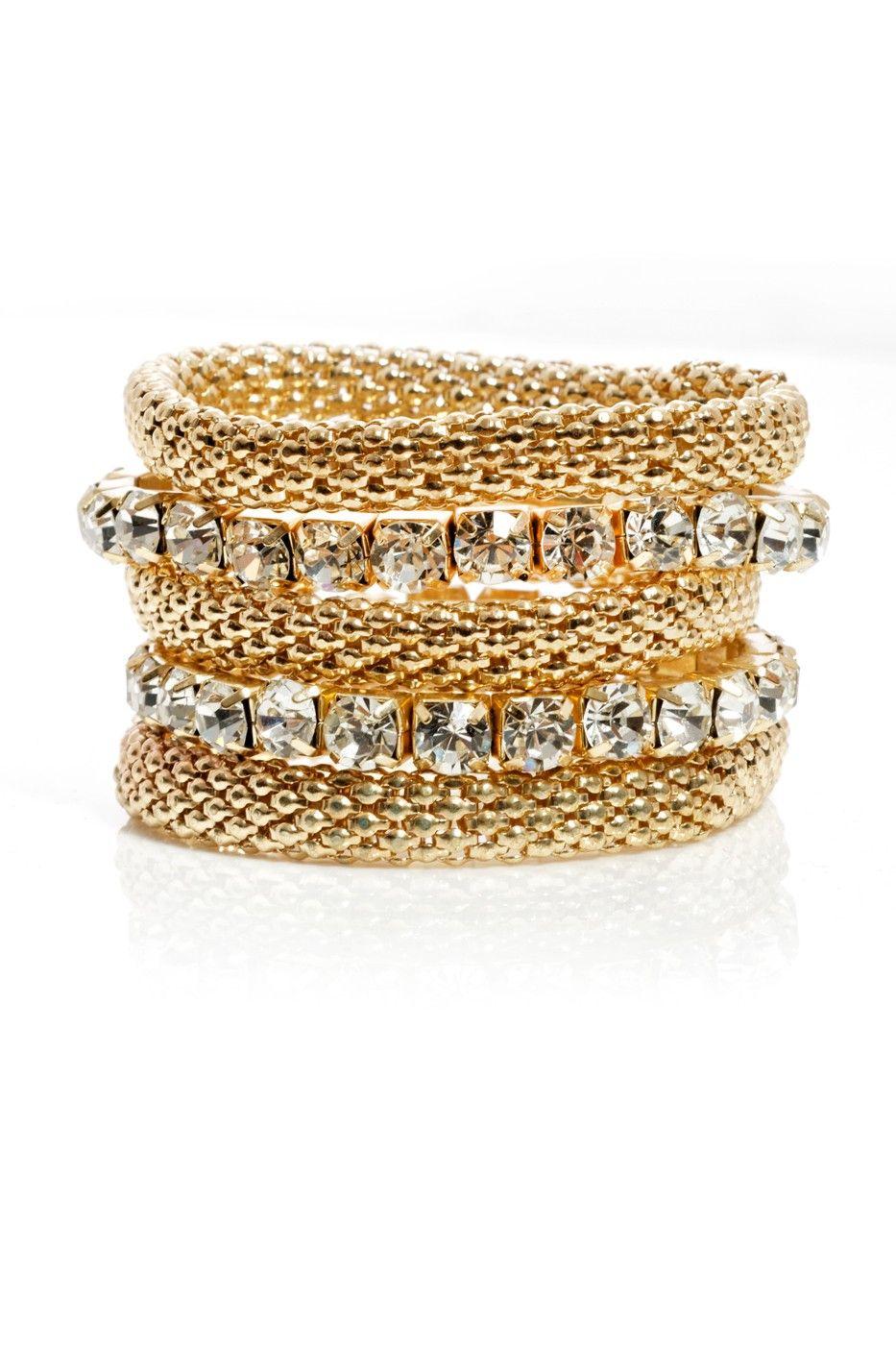Charmer To Meet You Snake Chain Bracelet Set from Fashion to Figure (http://www.fashiontofigure.com/catalog/plus-size-accessories/plus-size-jewelry/bracelets/charmer-to-meet-you-snake-chain-bracelet-set.html)