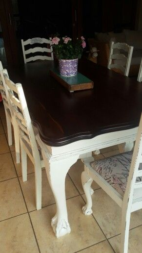 Restored 60 Year Old Dining Table And Chairs