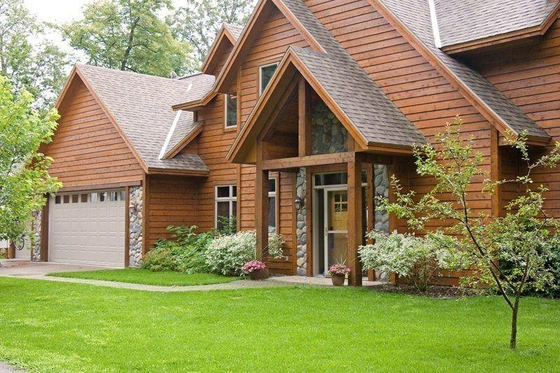 Fachada de una hermosa casa de campo novedades - Ver casas de madera ...