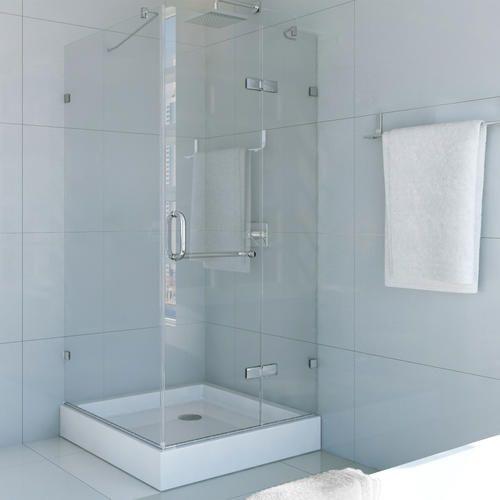 Vigo 32 X 32 Clear Chrome Frameless Shower Enclosure With Base At Menards Shower Enclosure Frameless Shower Enclosures Frameless Shower