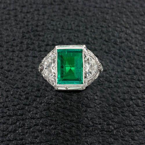 Art Deco Estate Emerald Ring