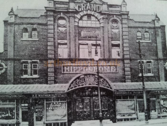 An early photograph showing the Wigan Hippodrome - With kind permission Wigan Reference Library.