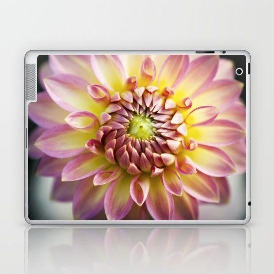 Joie de Vivre- Pink Dahlia Laptop & iPad Skin