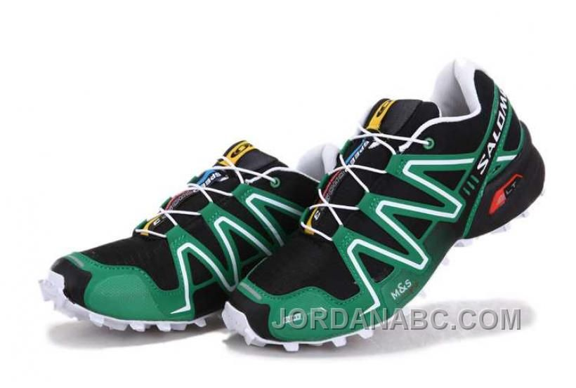 4a38959fac4e ... get salomon speedcross 3 mens black green white for sale price 74.00  air jordan shoes new