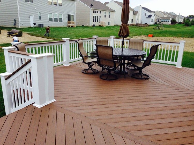 Routing Groove Composite Deck Board Stagger Wood Flooring By A Minimum Of 6 Inches Cheap Wood Floor For Patio Deck Designs Backyard Timbertech Deck