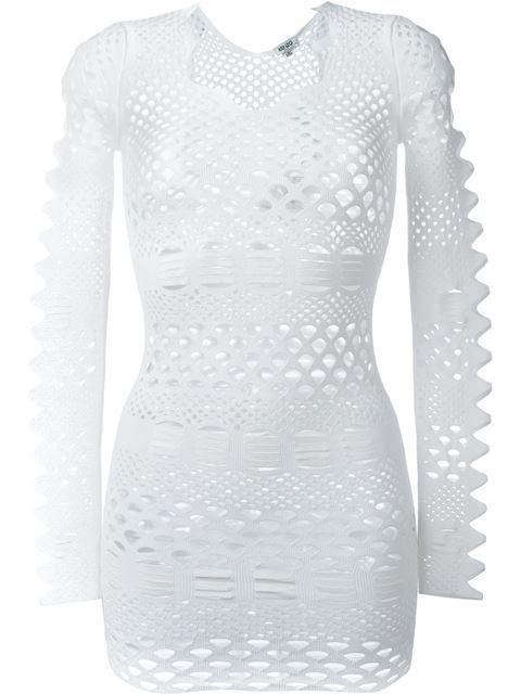 e7c0fe3316662 KENZO Openwork Knit Lace Dress. #kenzo #cloth #dress | Kenzo ...