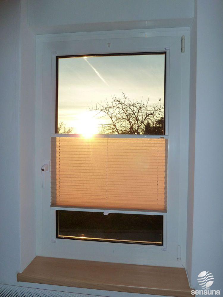 Sonnenschutz plissee von sensuna wohnzimmer pinterest - Plissee wohnzimmer ...