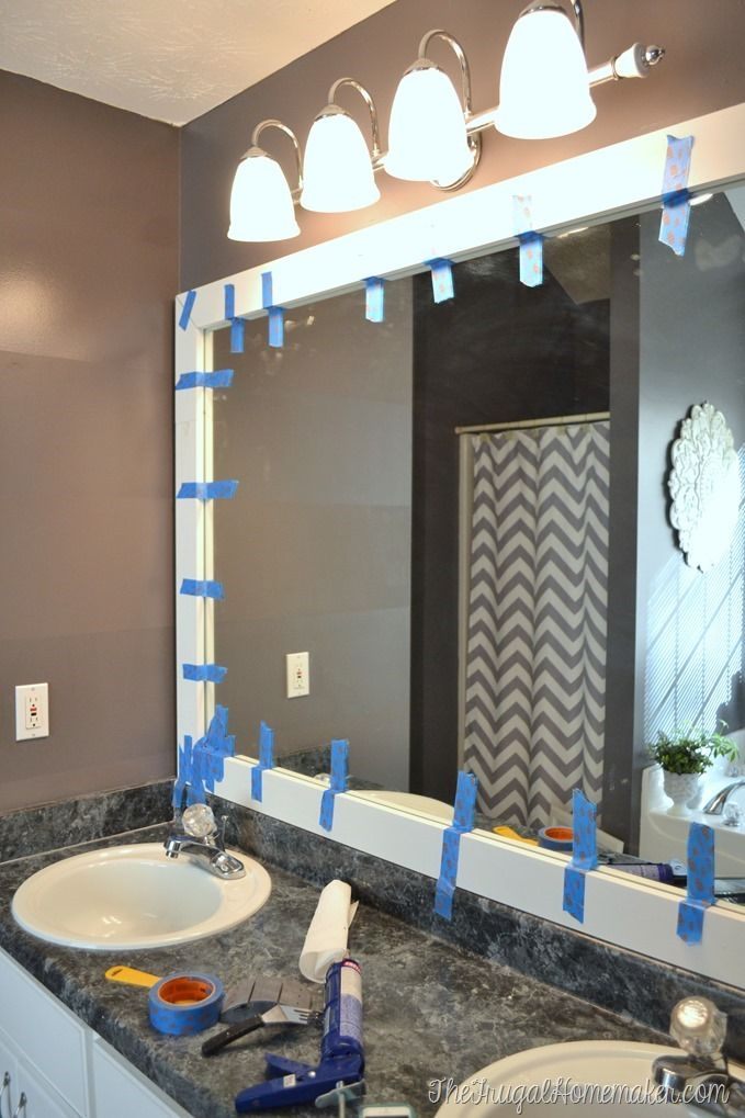 Use Tape To Hold Frame While It Dries Dream Bathroom Bathroom