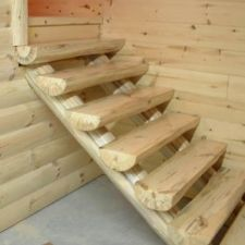 Best Log Railings And Stairs Knotty Pine Paneling Railing 400 x 300