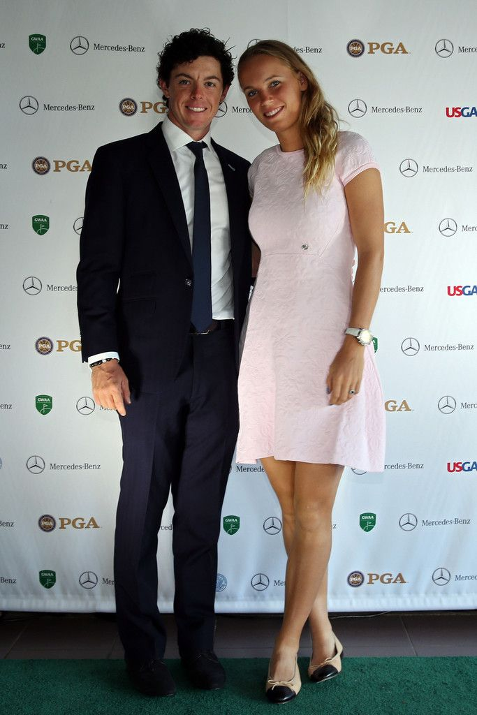 Caroline Wozniacki and Rory McIlroy at the 41st Annual GWAA Awards Dinner in Augusta #masters