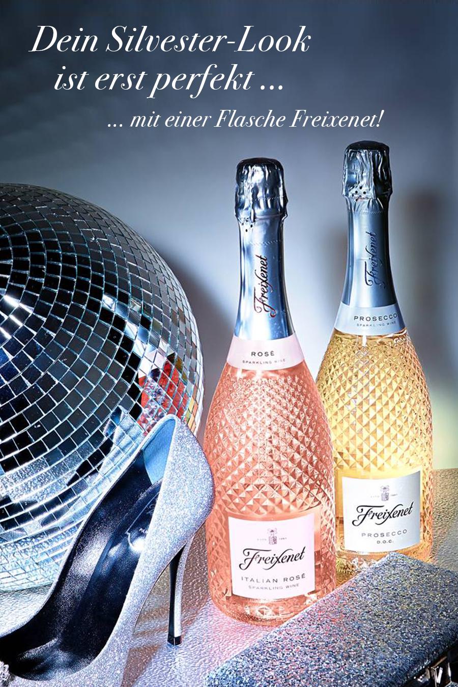 Party-Hingucker: Der Prosecco D.O.C. & Italian Rosé von Freixenet in der glamourösen Schmuckflasche.