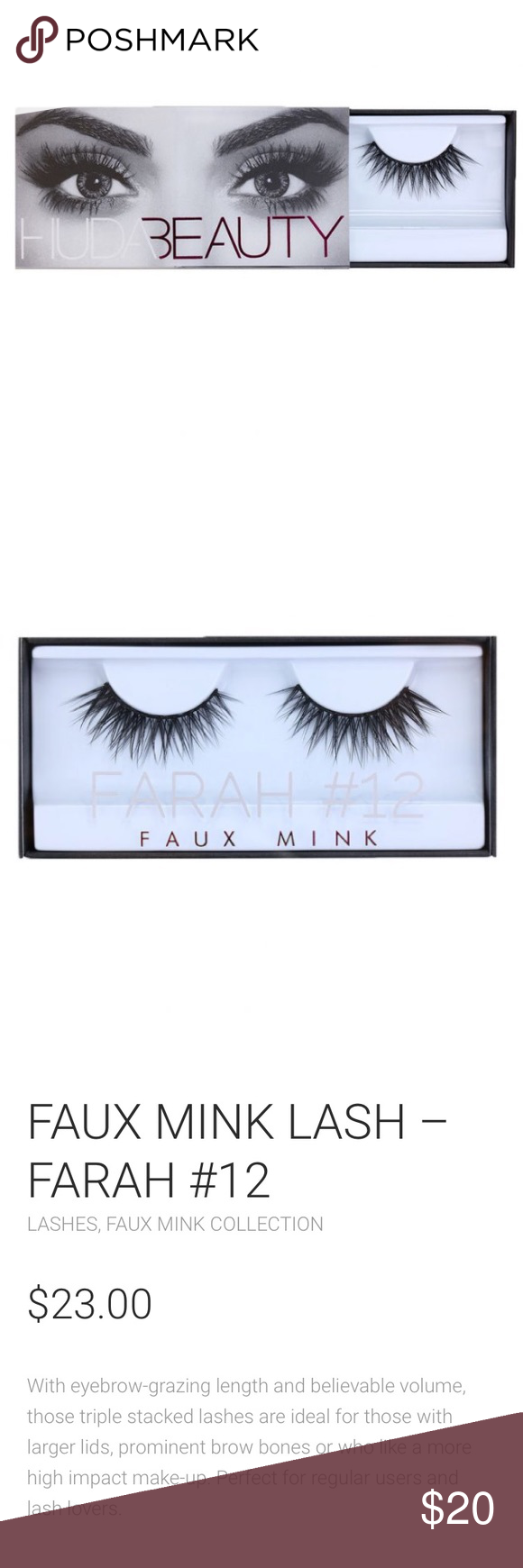 c444e2b136f NWT HUDA BEAUTY FARAH #12 FAUX MINK LASHES New in box, free gift with every  purchase ❤ Sephora Makeup False Eyelashes