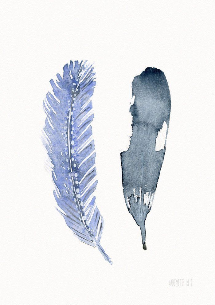 Print - Two Feathers