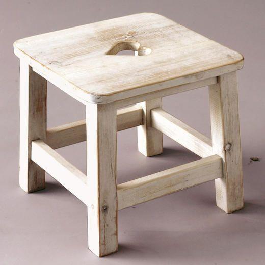 Wood Stool With Heart Bankjes Hout Diy Stoelen