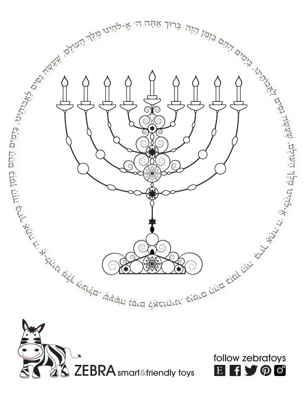 graphic regarding Hanukkah Prayer Printable called Menorah Printable-Hanukkah Prayer-Hanukiah-Therapeutic Artwork