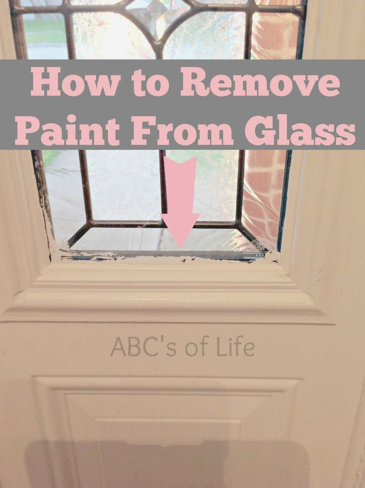 How To Remove Paint From Glass Ashley Nicole Designs Remove Paint From Glass Paint Remover Glass